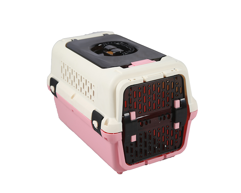 White And Pink Dog Carrier