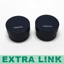 Kundengebundenes Logo Kleiner blauer runder geformter Papieruhr-Kasten mit Schwamm