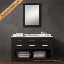 Шкафы для ванной комнаты с твёрдой древесиной с мягким закрытием