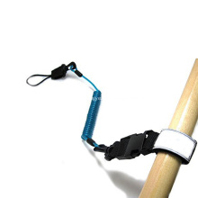 Kayak élastique adapté aux besoins du client par logo surfant la laisse rouge de panneau de palette de PU