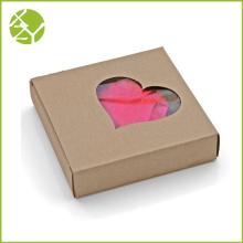 Caixa de presente da exposição da janela do Shap do coração