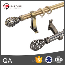 Hot sale single or dual stainless steel curtain rod in dubai