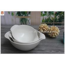 Tazón de sopa de cerámica blanca de calidad hign