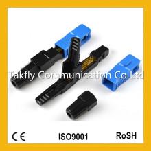Sc / APC Singlemode mm Tipo embutido Fibra óptica Fast Connector / Optical Fast Connector