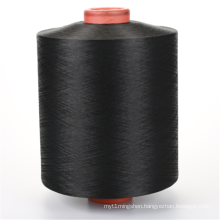 Low-denier Dope Dyed Black DTY Knitted Fabric Yarn