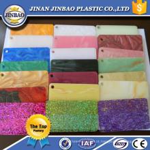 várias cores boa qualidade 3mm placa acrílica corian