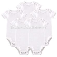 2017 Nouveau Né Bébé Vêtements Bébé Toddler Vêtements Unisexe Coton Biologique Plaine Blanc Barboteuse