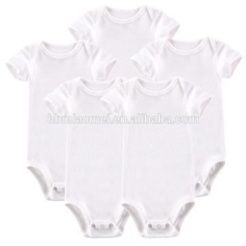 2017 New Born Baby Clothing Baby Toddler Clothing Unisex Organic Cotton Plain White Baby Romper