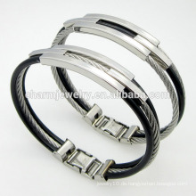 Heiße verkaufende hochwertige Schmucksachen verdrehte Art- und WeiseEdelstahl-Wölbungs-Armband GSL005