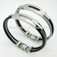 Hot vendendo qualidade superior jóias torcida moda aço inoxidável Buckle pulseira GSL005