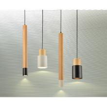 Simple design mordern Chandelier LED Pendant Light wood hanging lamp