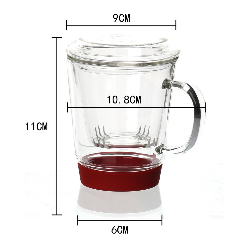 One Person Office Teapot Glass Tea Mug With Infuser