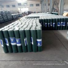 Malla de alambre de soldadura de acero PVC verde