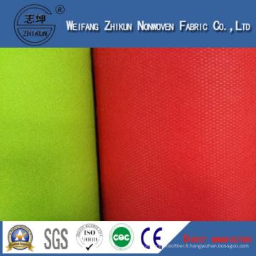 Tissu non tissé de couleurs différentes de PP pour des sacs à main (GSM différent)
