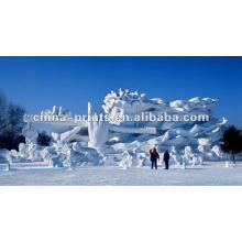 Снежная статуя Цифровая печать на ткани холста