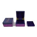 Boîte à bijoux en bois brillant pour cadeau