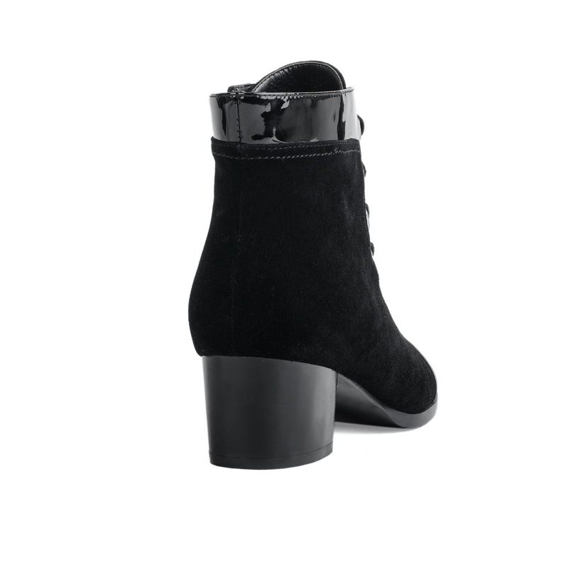 real leather ankle winter warm women boots