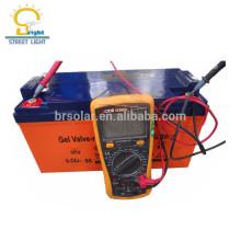 bateria acidificada ao chumbo solar totalmente selada 12v 200ah 250AH 100AH do gel da baixo-manutenção