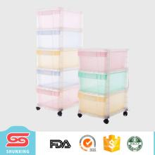 gabinete de almacenamiento de plástico multipropósito más popular con ruedas