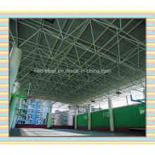 Edificio de la escuela del tejado del tejado del espacio agrupado por el tubo de acero y la bola de acero
