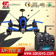 Original Walkera F210 3D RC Drone con cámara 700TVL RTF BNF Helicóptero DEVO7 Transmisor OSD para Walkera F210 Envío rápido