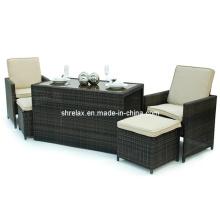 Сад плетеная бистро Set ротанг открытый патио мебель