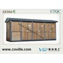 33kv Distribuição Pré-fabricada Subsecção Combinada Subestação de Energia Elétrica de Transmissão, Subestação Pré-fabricada, Subestação Combinada