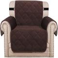 Protetor de poltrona de veludo acolchoado com capa de cadeira de sofá espesso para sala de estar