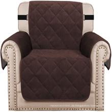 Wohnzimmer Dick Sofa Stuhlbezug Samt Gesteppter Sesselbezug Schutz