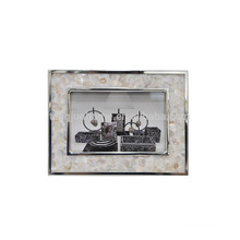 Handmade Atacado Metal Photo Frame com Rio Shell