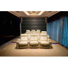 Sofá, silla del sofá del Recliner Manual, cine teatro silla del sofá (706)