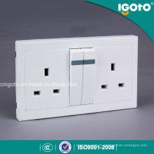 Interrupteur et prise murale électrique Igoto Al9013 Double 13A