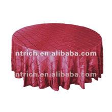 SuperbTaffeta el mantel pintuck, lino de tabla, mantel del banquete del hotel