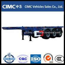 Cimc 3 ejes 40FT semirremolque portacontenedores