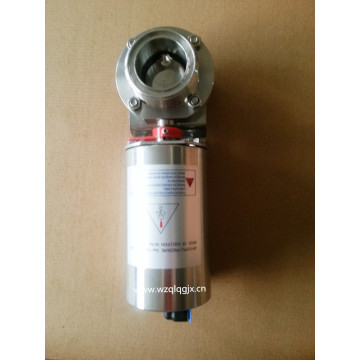 Sanitary Pneumatic Butterfly Valve with Union
