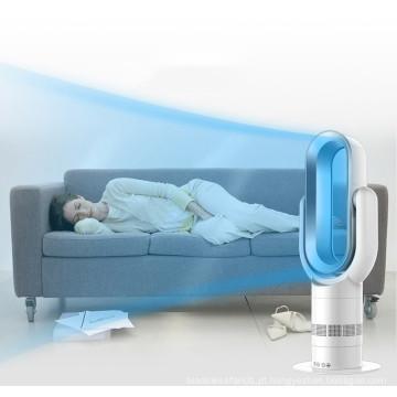 2019 Mini ventilador de aquecimento oscilante cerâmico elétrico PTC com display digital e controle remoto
