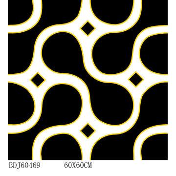 Piso de porcelana de cristal dourado polido popular com preço barato (BDJ60469)