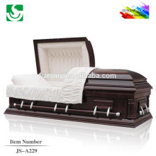 Wholesale best lacquer solid wood oak high gloss caskets