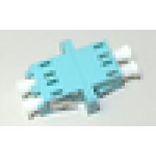 LC / UPC to LC / UPC 10G OM3 Дуплексный тип SC с фланцевым пластиковым оптоволоконным адаптером