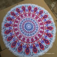 High Quality custom made round beach towel wholesale