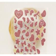 Or rose adapté aux besoins du client personnalisé découpé avec des autocollants de décalque autocollant de scintillement aléatoire de vinyle de couleur