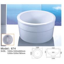 Mini baignoire blanche pour salle de bain