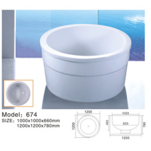 White Mini Bath Tub For Bathroom