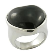 Anéis clássicos Anéis de pedra preta
