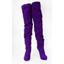 Botas de mujer sobre la rodilla de moda (Hcy02-082)