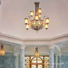 Mosque project brass  customized led chandelier light