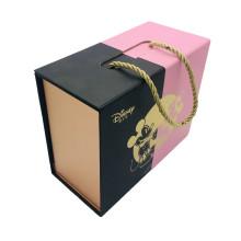 Boîte de poignée d'emballage alimentaire en forme de livre