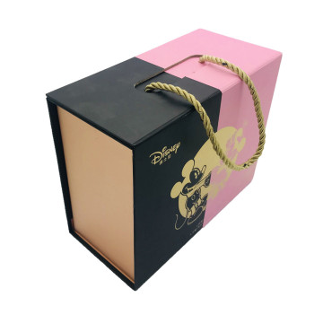 Book shape food packaging handle box
