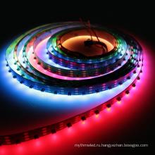Новое поступление 12 мм Ширина 4УНЦ 64LEDs/м сторона-излучающих sk6812_4020 адресуемый программируемый RGB светодиодные полосы