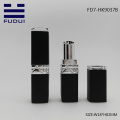 Square matte black custom lipstick tube design